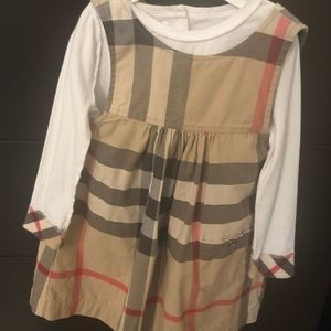 Burberry baby dress and top